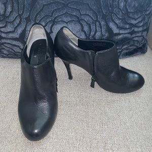 Cute black leather Cole Haan booties size 6.5